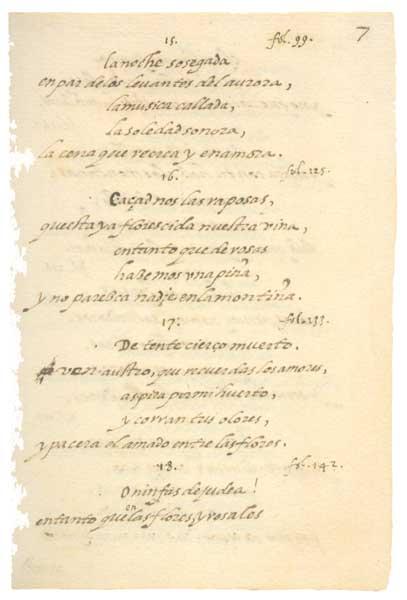 Fragmento del 'Cántico espiritual' de San Juan de la Cruz.