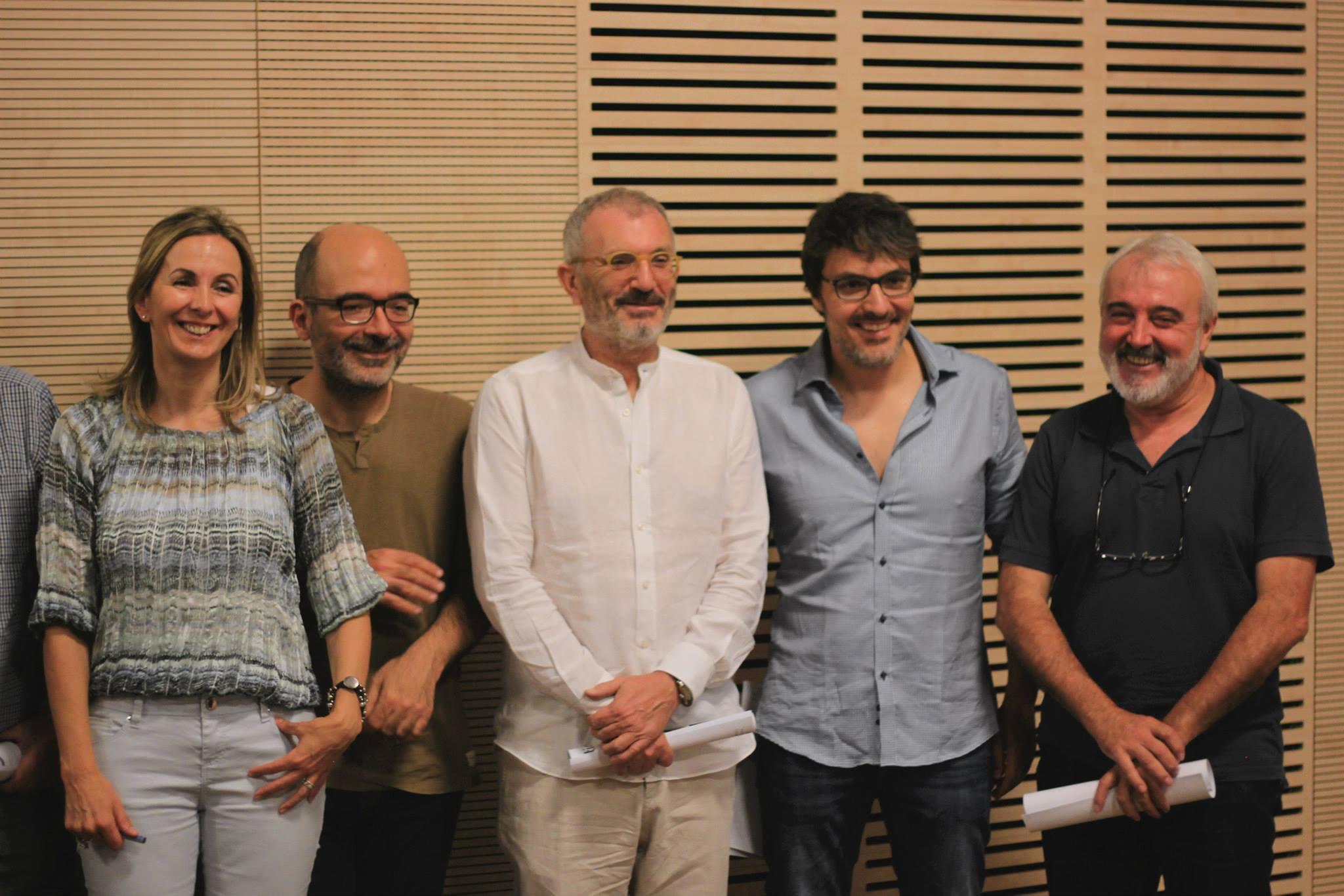 Mar Gómiz, Ángel Salguero, Antonio Valero, Jordi Ballester y Paco Alegre.