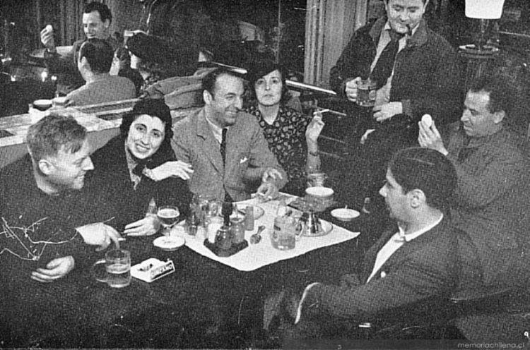 Pablo Neruda y Delia del Carril en Madrid.