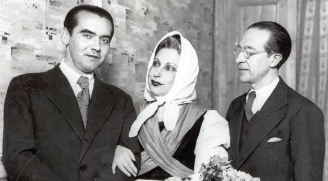 Lorca y Margarita Xirgu.