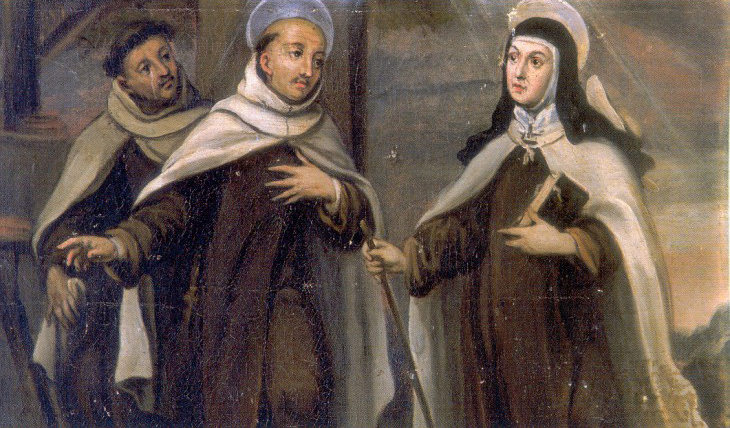 Recreación del encuentro de San Juan de la Cruz y Santa Teresa en Alba de Tormes.