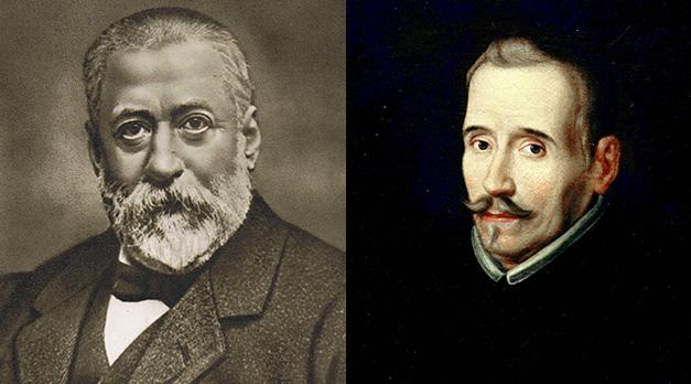 Marcelino Menéndez Pelayo y Lope de Vega.