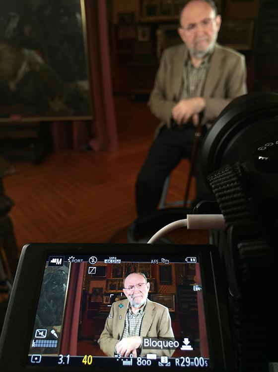 El poeta Marc Granell, durante la entrevista.