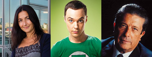 Sonia Fernández-Vidal, Sheldon Cooper (interpretado por el actor Jim Parsons en la serie 'Big Bang Theory') y Federico Mayor Zaragoza.