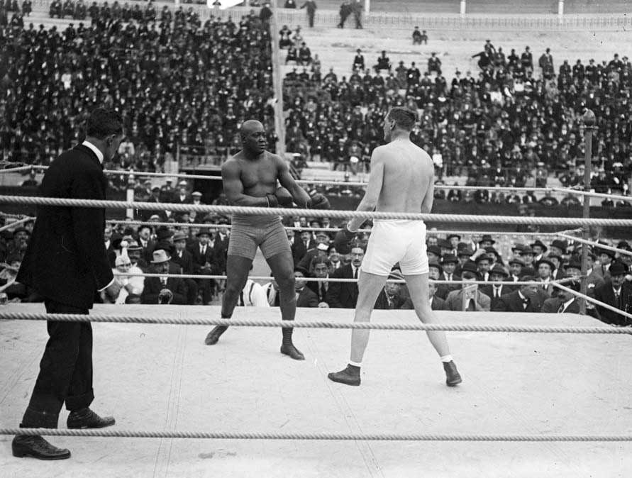 Cravan y Johnson en el ring