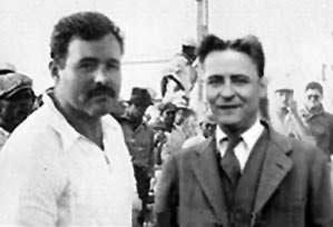 Ernest Hemingway y Francis Scott Fitzgerald en París.