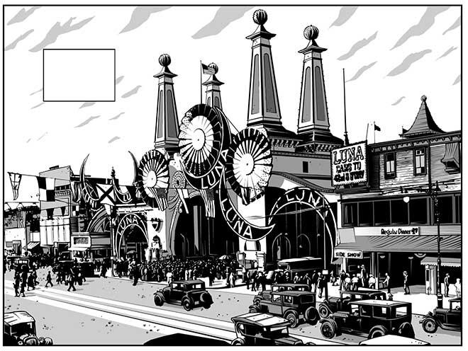 Recreación del Coney Island de finales de los años 20.