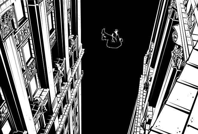 Ilustración de Carles Esquembre para 'Lorca, un poeta en Nueva York'.