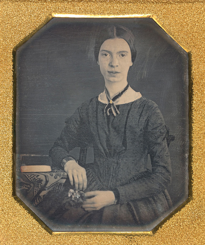 Emily Dickinson a los 16 años en su único retrato autentificado.