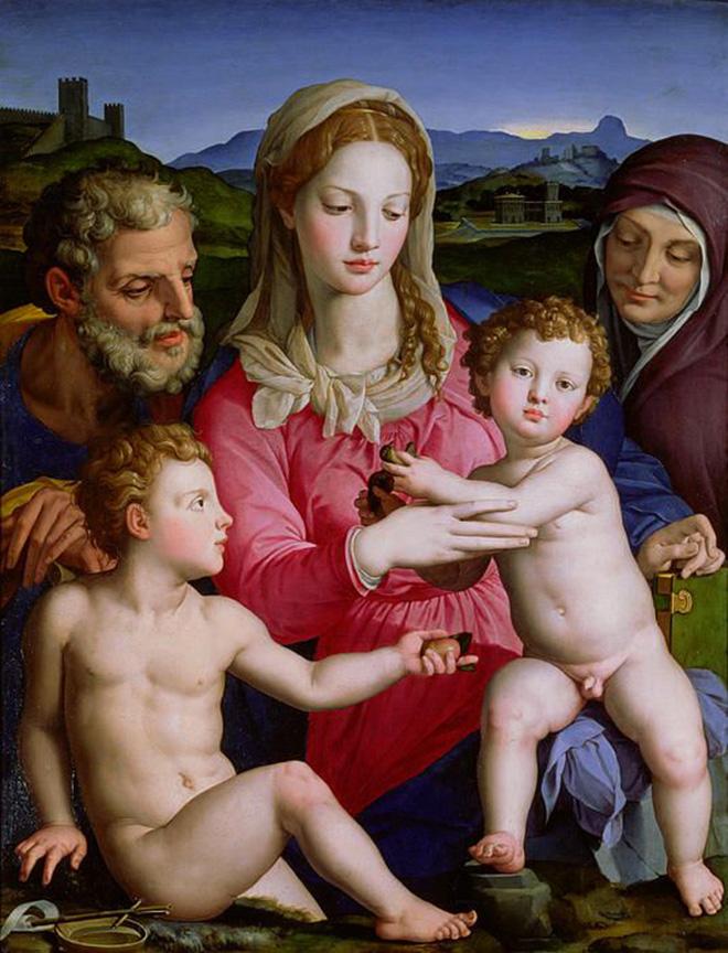 La Virgen con el Niño  en el cuadro pintado por Agnolo Bronzino.