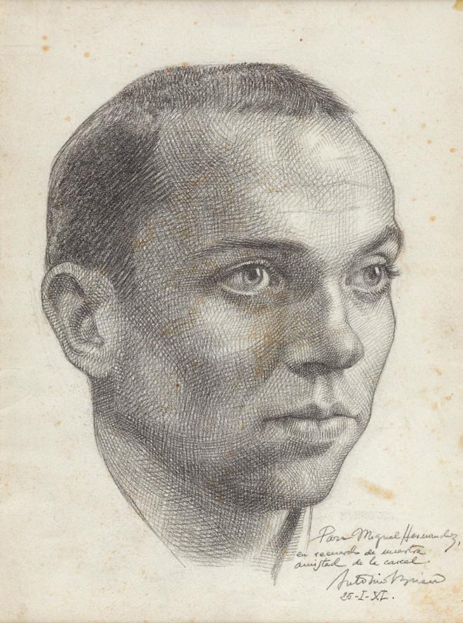 Retrato de Miguel Hernández por Antonio Buero Vallejo.