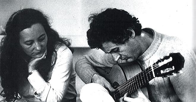Francisca Aguirre y Félix Grande en una imagen de 1970.