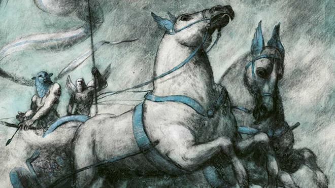Una de las ilustraciones de Pablo Auladell para 'El paraíso perdido' de Milton.