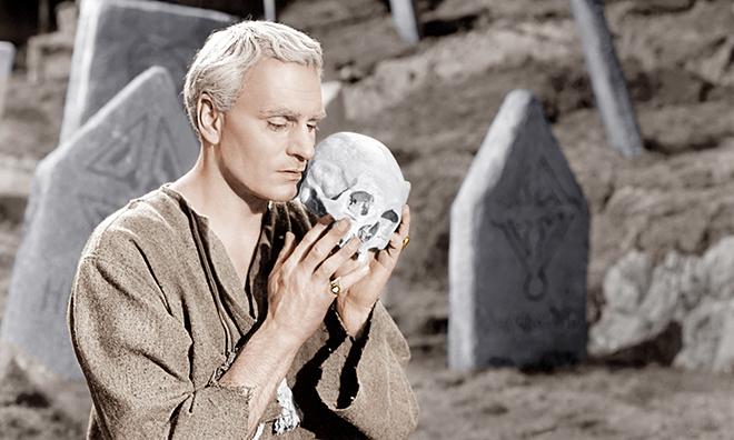 Laurence Olivier en el papel de 'Hamlet'.