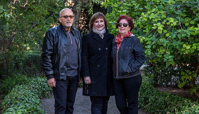 Josep Micó, Elena Escribano y Carmela Rey. Foto de Biel Aliño.