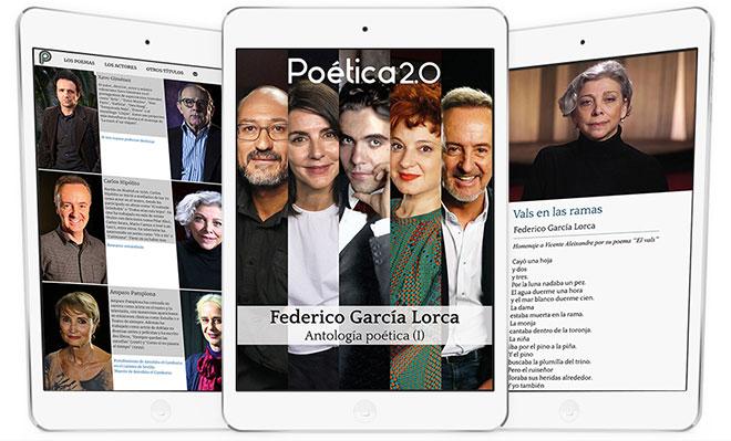 Federico García Lorca App Poética 2.0 videopoesía antología multimedia