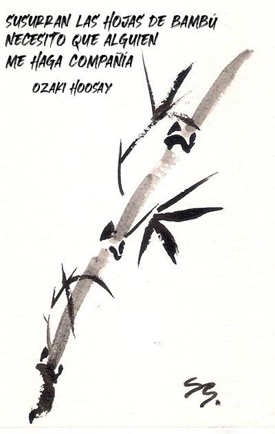 Ilustración de Susana Benet sobre un haiku de Ozaki Hoosay