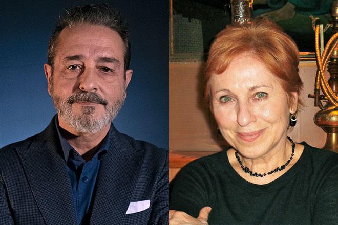 Los poetas Vicente Gallego y Susana Benet.